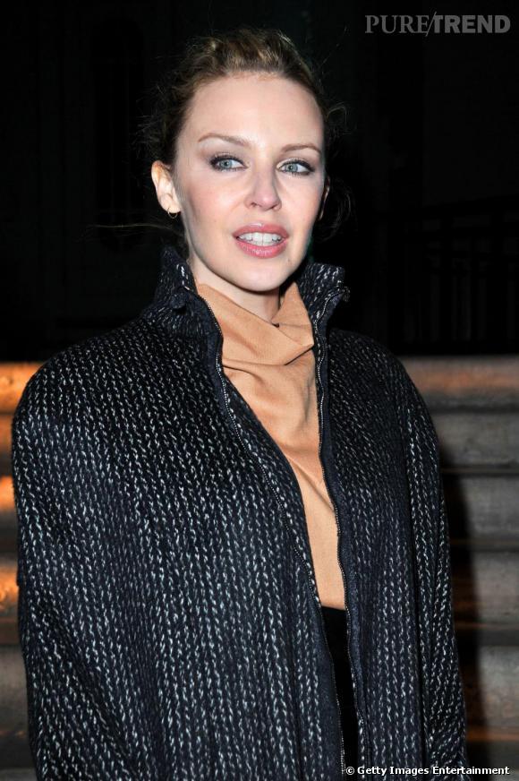 Kylie Minogue au défilé Yves Saint Laurent