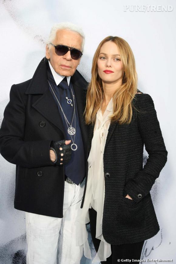 Karl Lagerfeld et Vanessa Paradis au défilé Chanel