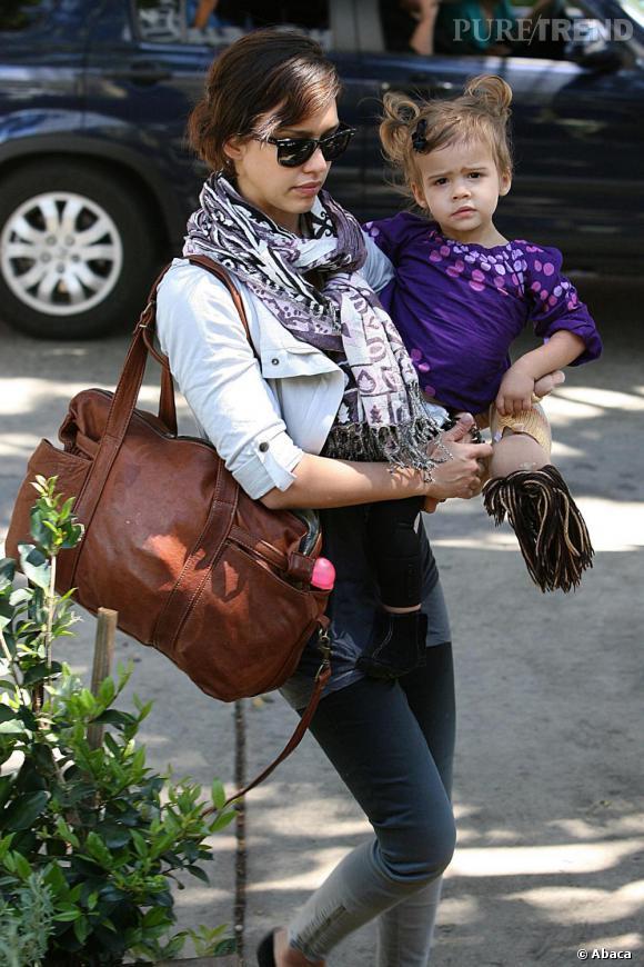 Jessica Alba à Los Angeles avec sa fille Honor
