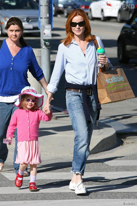 Marcia Cross aux côtés de sa fille