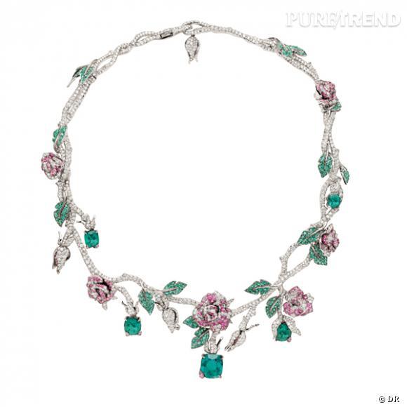 Collier Precieuse Rose Dior Joaillerie Son Histoire La Rose Est