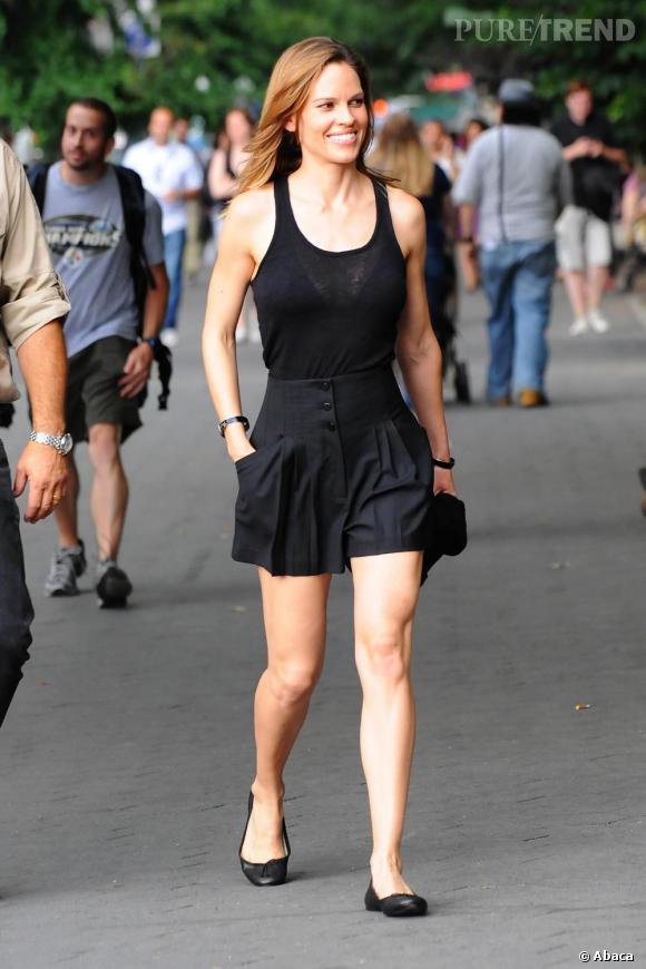Hilary Swank sur le tournage de Something Borrowed à New York