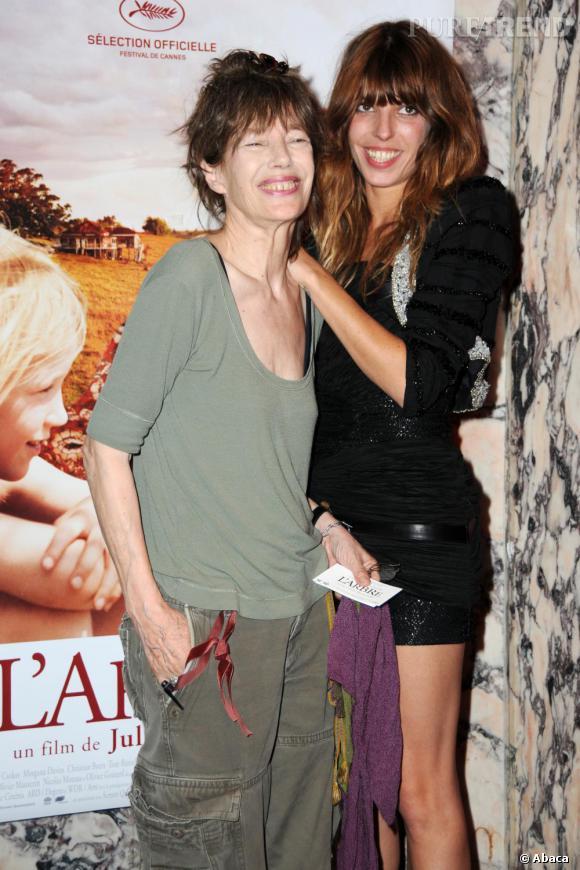 Lou Doillon aux côtés de sa mère Jane Birkin
