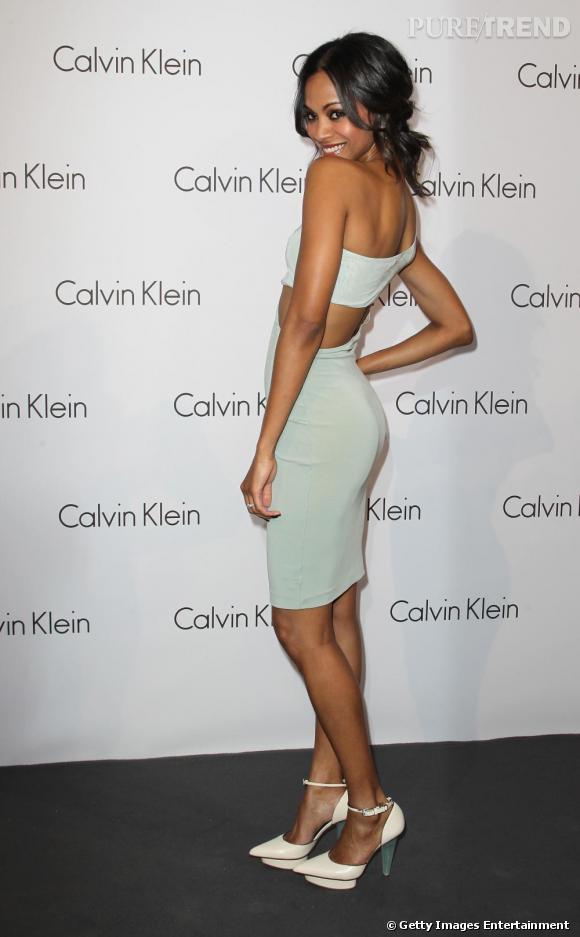 "La sublime Zoe Saldana lors de la soirée ""World of Calvin Klein"" à Berlin."