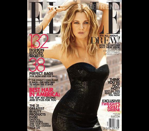 Drew Barrymore en couverture du ELLE US d'août 2010.