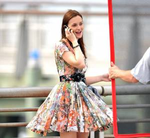 Leighton Meester ose le jupon audacieux