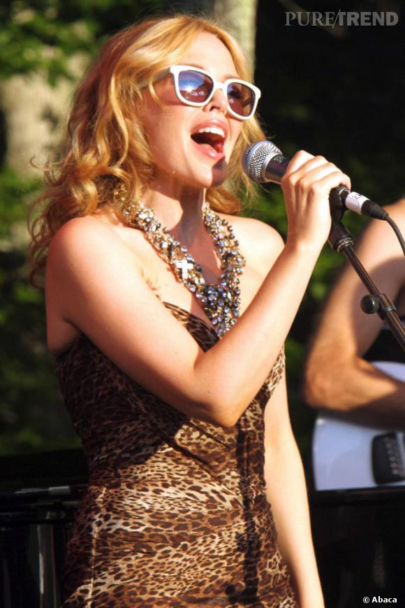 Kylie Minogue au Watermill Summer Concert: Last Song  of Summer à New York.