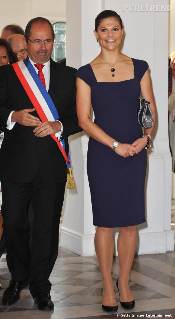 La Princesse Victoria de Suède lors d'une réception officielle en France.