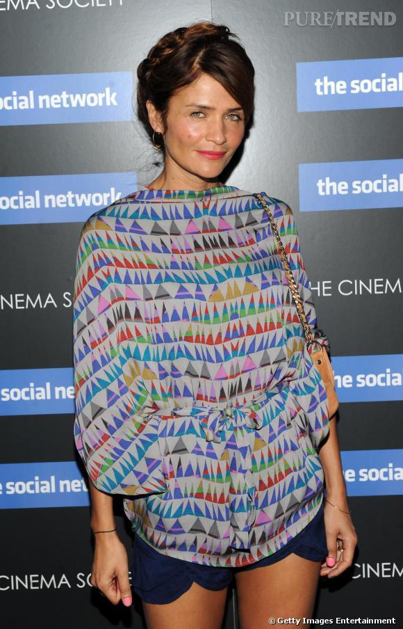 Helena Christensen à la projection de The Social Network à New-York.