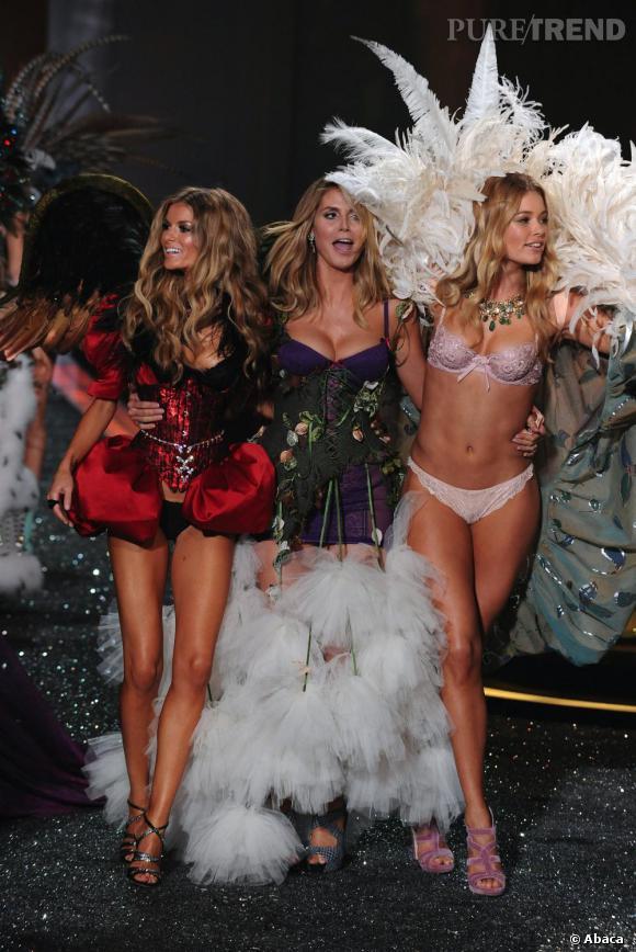 Marisa Miller, Heidi Klum et Doutzen Kroes : trois emblèmes de la marque Victoria's secret
