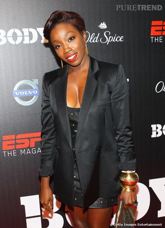 Estelle à la soirée EPSN The Magazine The Body Issues à New York.