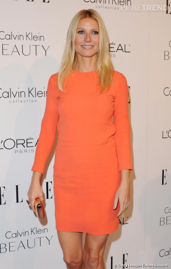 Gwyneth Paltrow à la soirée du Elle Magazine qui récompense les femmes les plus influentes du milieu artistique.