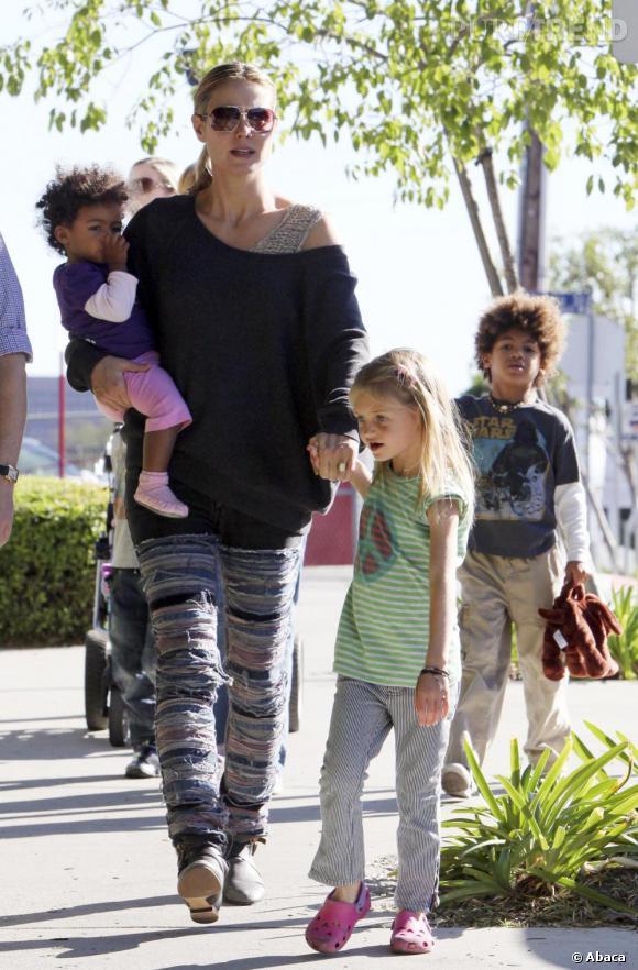 Heidi Klum dans les rues de Los Angeles.