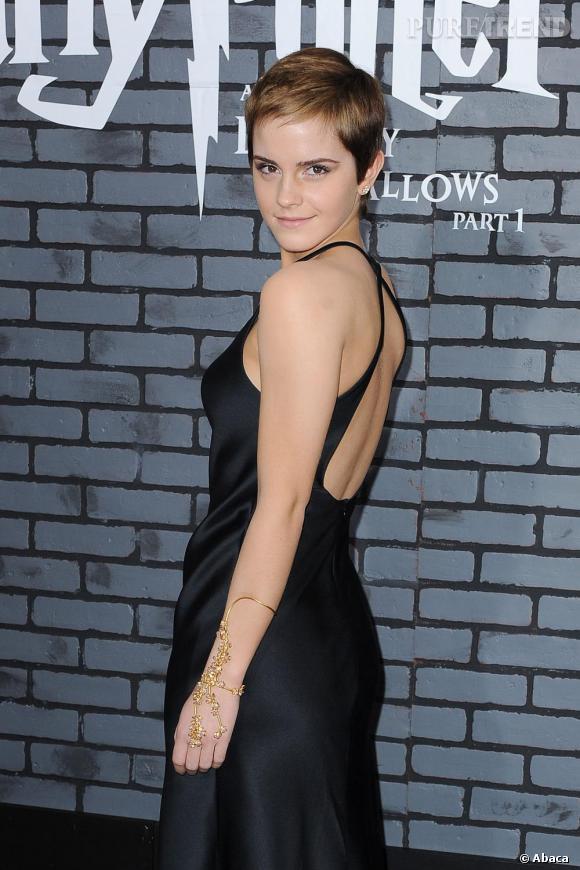 Emma Watson lors de la première d'Harry Potter & The Deathly Hallows à New-York.