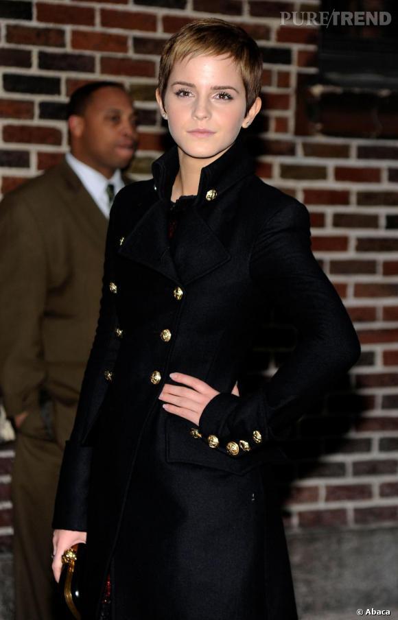 Emma Watson au Late Show with David Letterman.