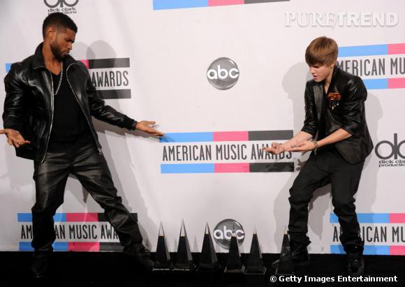 Après avoir flirté avec Katy Perry, Justin Bieber titille le roi du R'n'B, Usher.