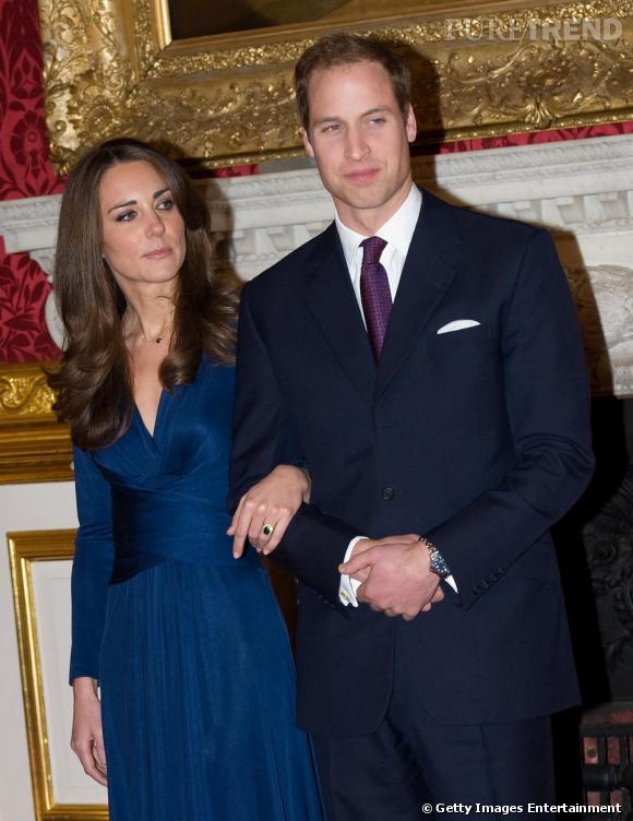 Kate Middleton et son fiancé le prince William.