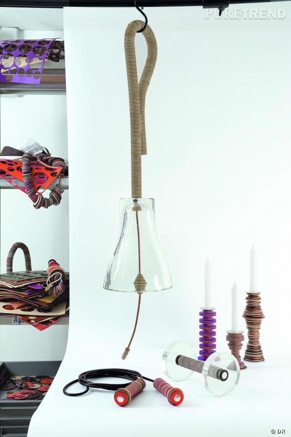 Cloche en cristal et cuir, Stefania Di Petrillo et Godefroy de Virieu.