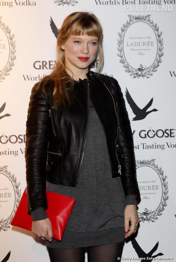 Léa Seydoux hôte de la soirée de Noël Grey Goose à Milan.