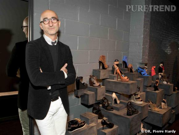 Pierre Hardy dans sa première boutique à New-York.