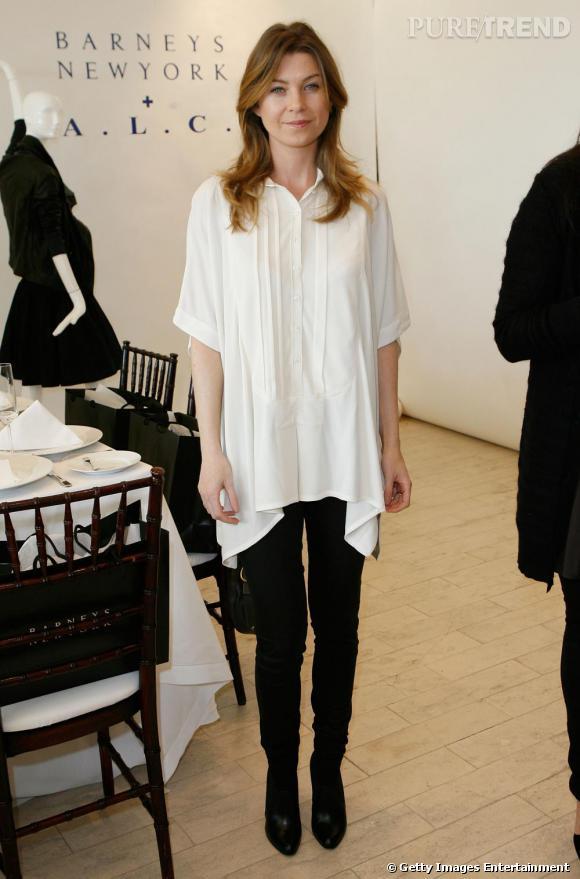 2009 : Changement de cap pour Ellen Pompeo qui s'assagit en même temps que la naissance de son premier enfant.