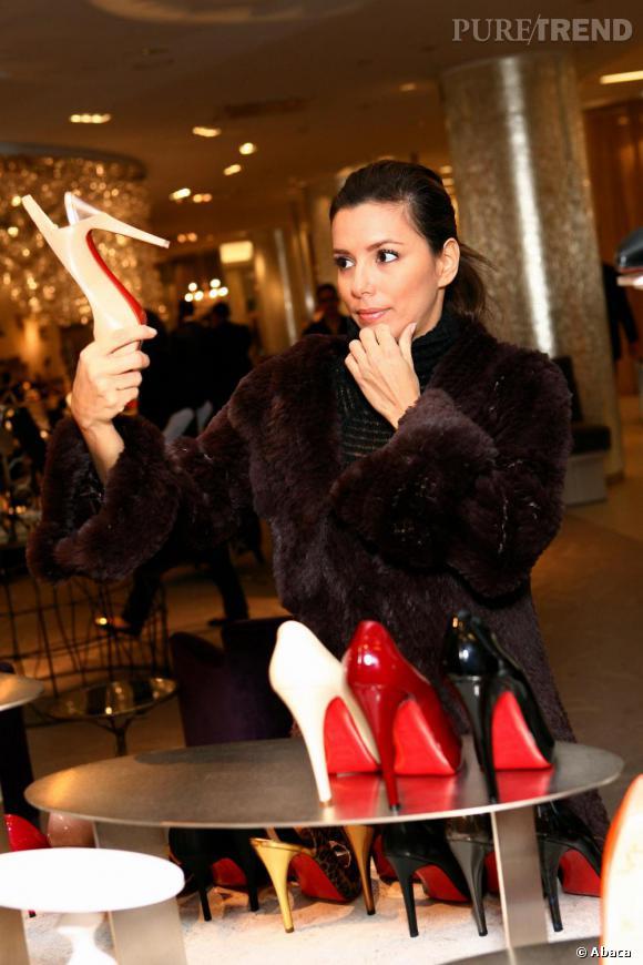 Eva Longoria en plein shopping chaussures...