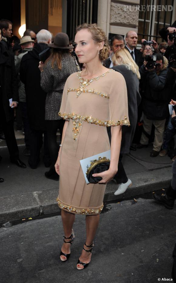 Diane Kruger, sublime dans une robe Chanel automne 2010 collection Couture.