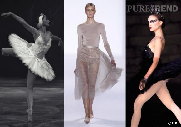 Obsession : le ballet. L'English National Ballet danse Le Lac des cygnes, en 2010. Défilé Chloé printemps-été 2011. Natalie Portman dans Black Swan.