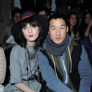 Irina Lazareanu et le créateur Richard Chai chez 3.1 Phillip Lim.