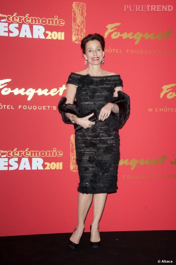 Kristin Scott Thomas à la 36e cérémonie des César.