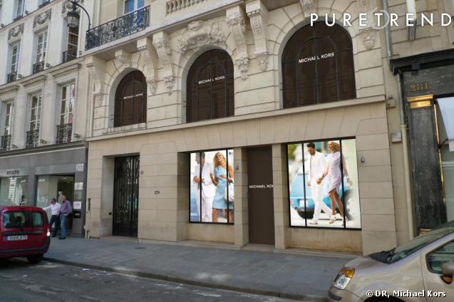 Boutique Michael Kors, rue Saint-Honoré, à Paris.
