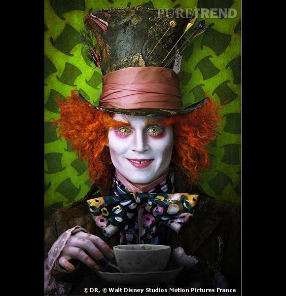 Le chapelier fou dans Alice aux pays des merveilles ? Un rôle parfait pour Johnny Depp.