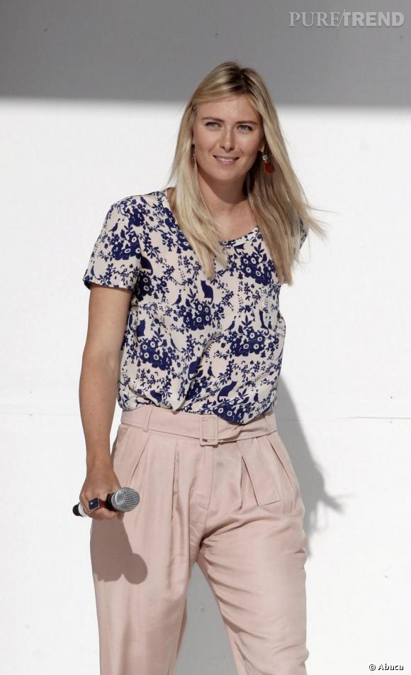Maria Sharapova invitée à une présentation Sony, à Miami.