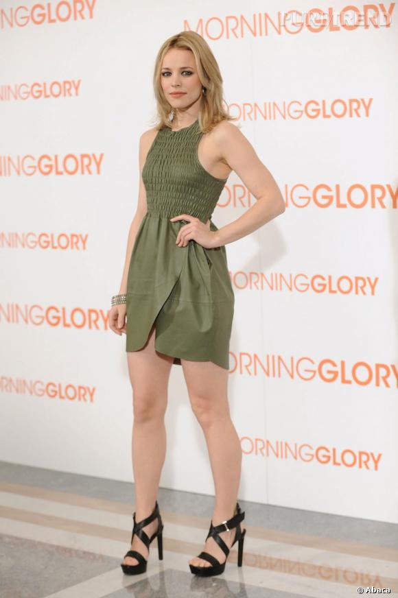 """En 2011 pour la promotion de """"Morning Glory"""", Rachel a su se débarrasser de son côté enfantin."""