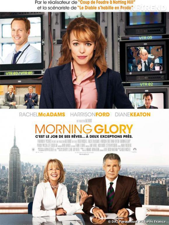 Dès le 6 avril, Rachel McAdams sera à l'affiche Morning Glory aux côtés d'Harisson Ford et Diane Keaton.