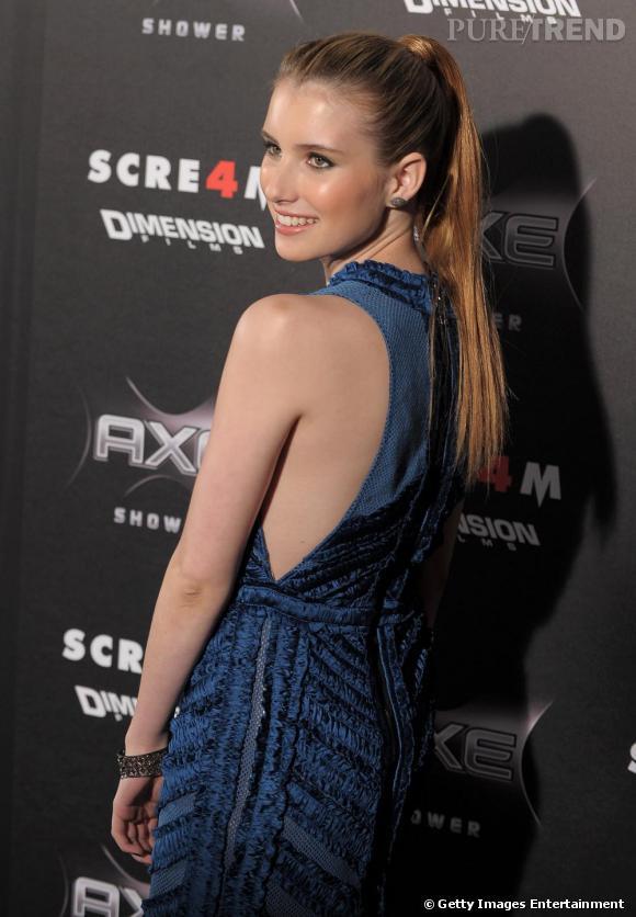 """Emma Roberts à la première de """"Scream 4"""", à Los Angeles."""