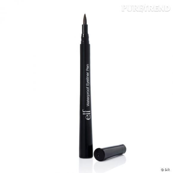 Stylo eye liner waterproof de la marque Elf       C'est quoi :   un stylo eye liner qui permet de faire glisser la couleur avec précision sur la paupière. Existe en 5 teintes.          Son prix :   1 €     Prix du vanity :   49.83 €     Disponible sur le site :     www.eyeslipsface.fr