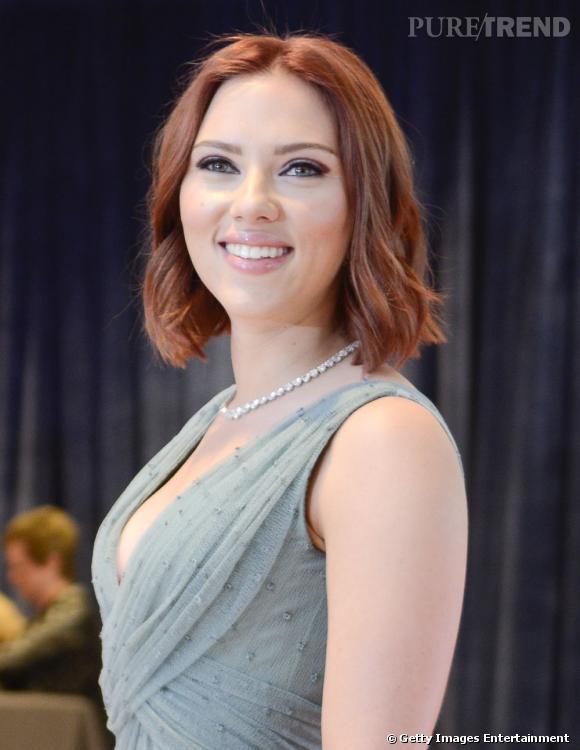 Scarlett Johansson à une soirée caritative organisée par la Maison Blanche.