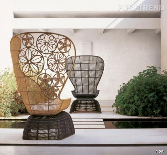 fauteuil crinoline patricia urquiola pour b b italia le m me fauteuil qu 39 emmanuelle mais sans. Black Bedroom Furniture Sets. Home Design Ideas