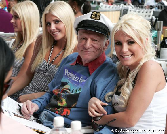 Hugh Hefner, un capitaine bien heureux.