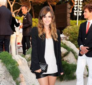 Le look du jour : Rachel Bilson, cuir et Couture