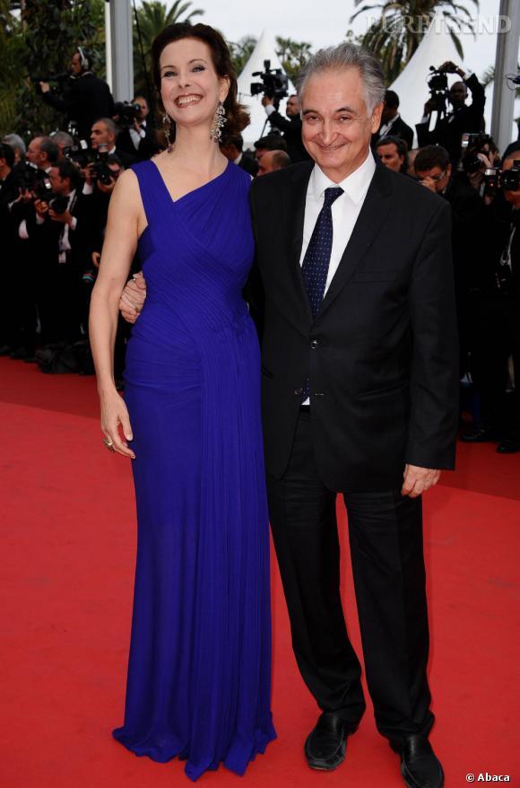 """Carole Bouquet et Jacques Attali sur le tapis rouge de """"Sleeping Beauty""""."""