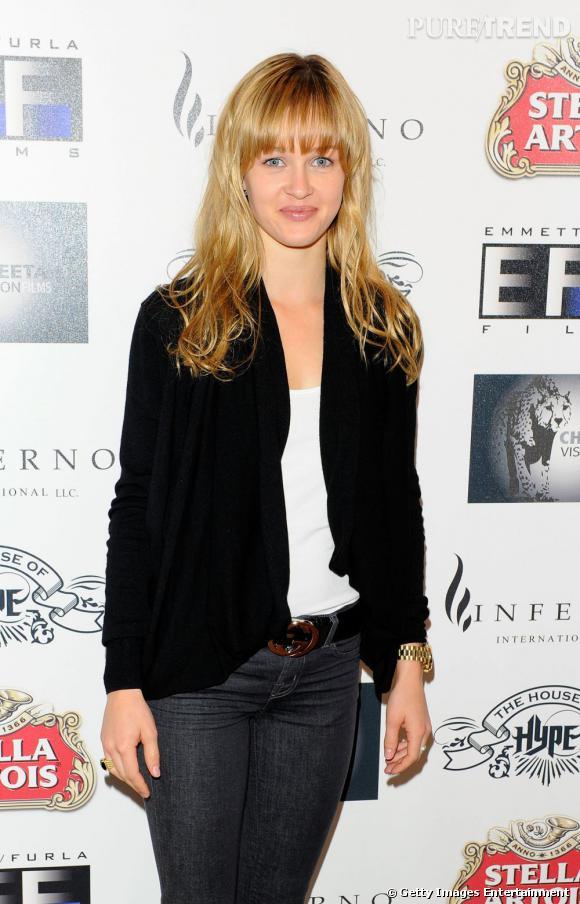 Amber Childers à la reception Freelancers à Cannes.