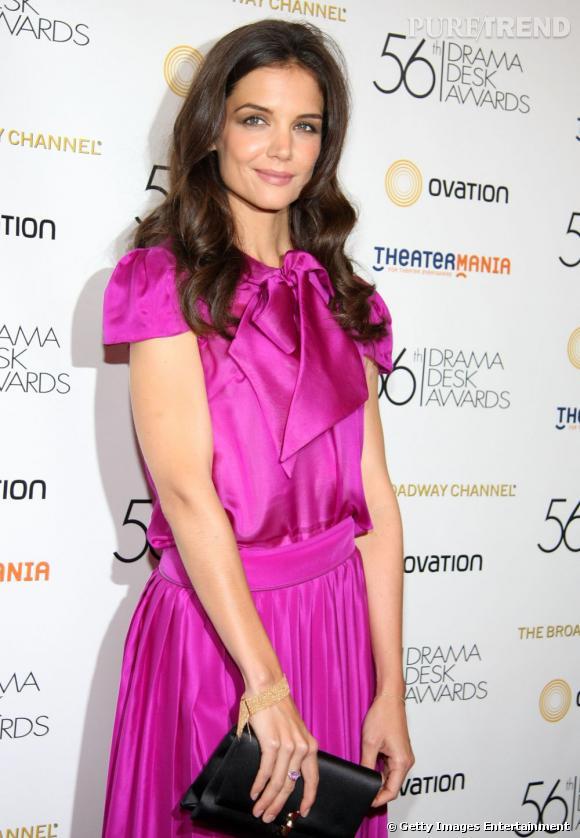 Katie Holmes à la soirée Drama Desk Awards, à New York.