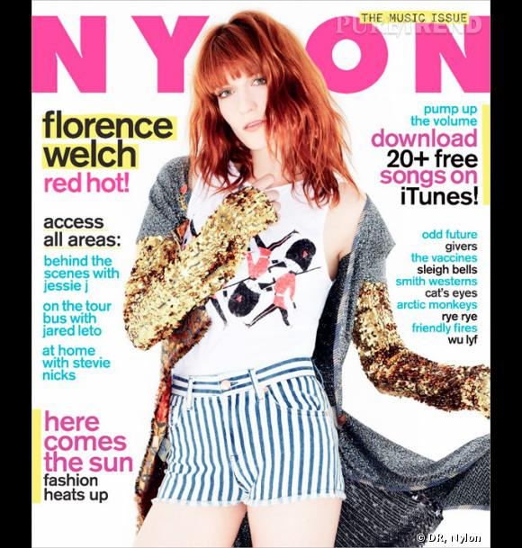 """Florence Welch, pour le magazine """"Nylon"""". Sortie juin 2011."""