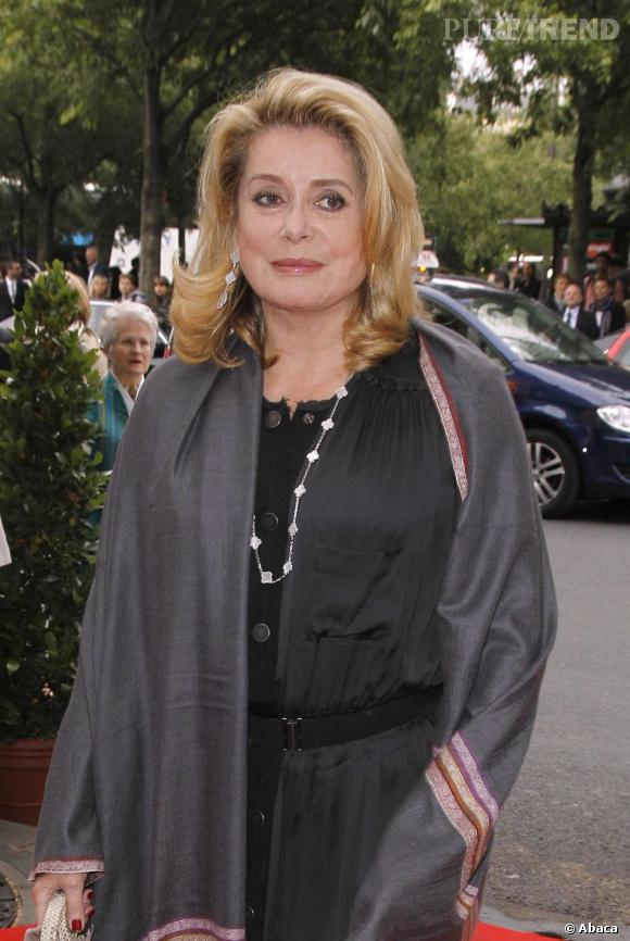 Catherine Deneuve au gala anniversaire des 50 ans d'Amnesty International à Paris.