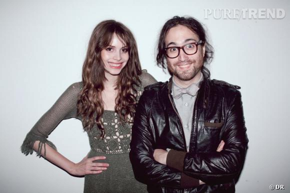Charlotte Kemp Muhl et Sean Lennon au défilé Odd Molly automne-hiver 2011/2012.