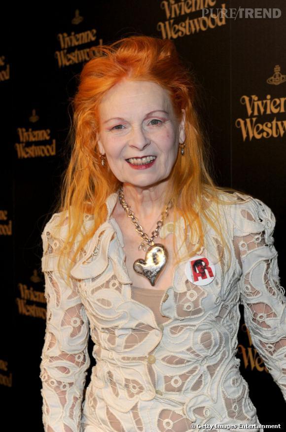 Les créateurs de mode sont-ils tous mal coiffés ?     Nom :  Vivienne Westwood      Coiffure :  une crinière orange.