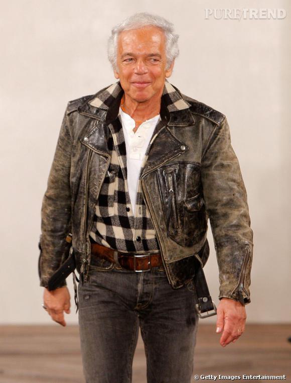Les créateurs de mode sont-ils tous mal coiffés ?     Nom :  Ralph Lauren      Coiffure :  léger effet cranté sur chevelure grise et lumineuse.