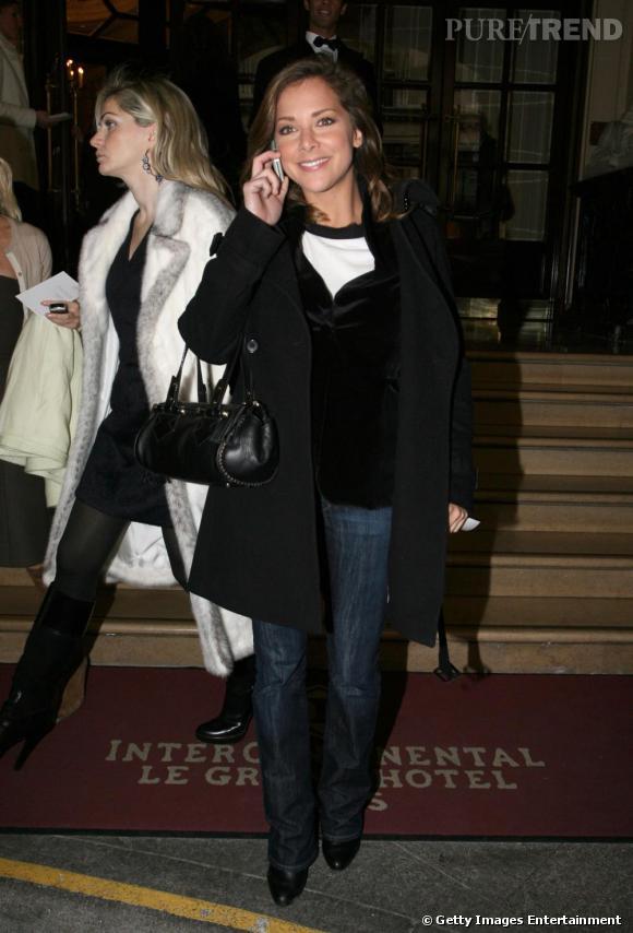 Le jean :  en dehors des plateaux, Melissa reste décontractée...